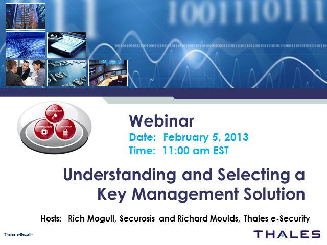 Understanding and Selecting a Key Management Solution