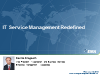 IT Service Management-Redefined