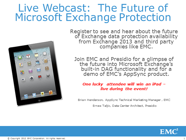 Live Webcast: The Future of Microsoft Exchange Protection