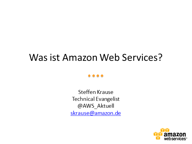 Was ist AWS? (in Deutsch)