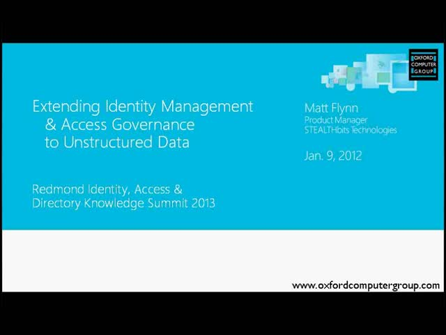 Extending Identity Management & Governance to Unstructured Data with STEALTHbits
