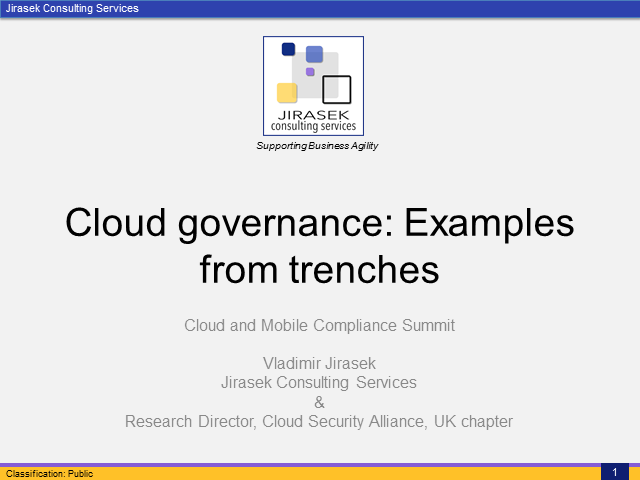 Cloud Governance Done Right: Examples from the Trenches