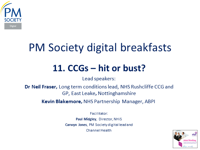 Digital Breakfast 11 - Six months of CCGs: hit or bust?