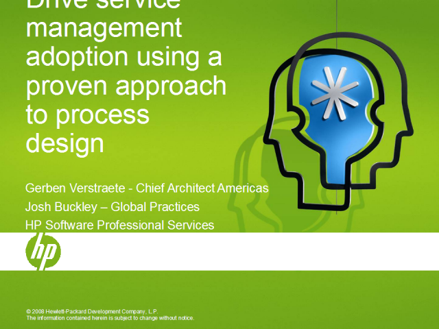 Service Management Adoption: A Proven Approach to Process Design