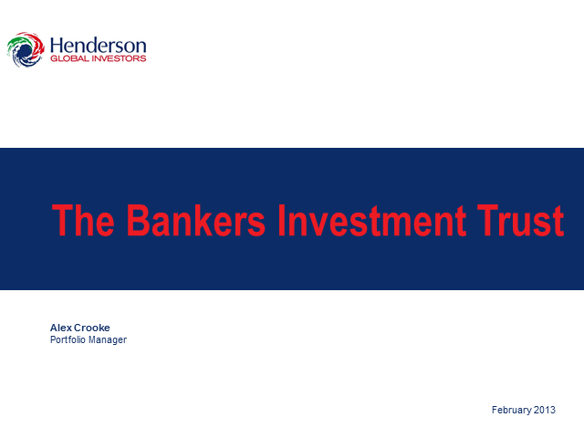The Bankers Investment Trust PLC - Webcast