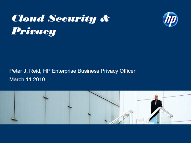 Cloud Security & Privacy