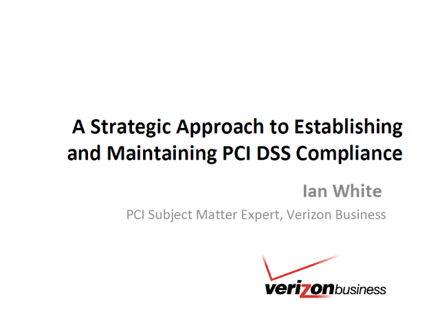 A Strategic Approach to Establish & Maintain PCI DSS Compliance