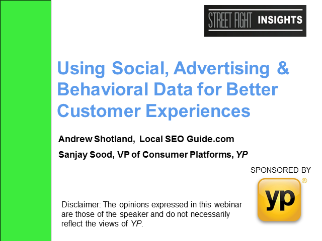 Using Social, Advertising & Behavioral Data for Better Customer Experiences