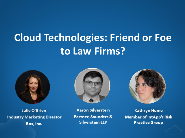 Cloud Technologies: Friend or Foe to Law Firms?
