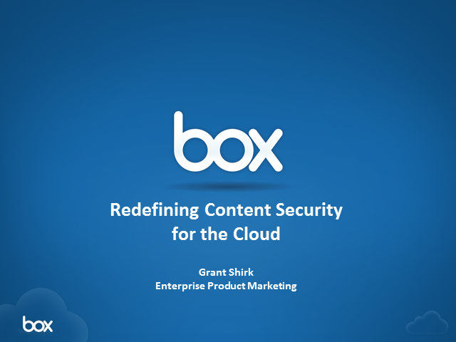 Re-Defining Content Security in the Cloud