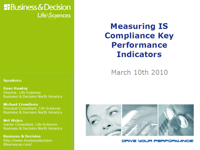 Measuring IS Compliance Key Performance Indicators