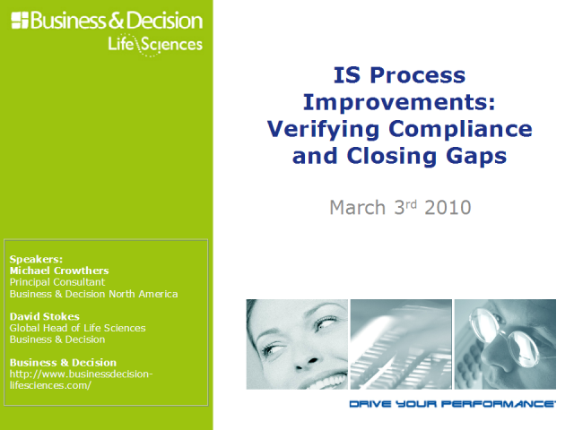 IS Process Improvements: Verifying Compliance and Closing Gaps