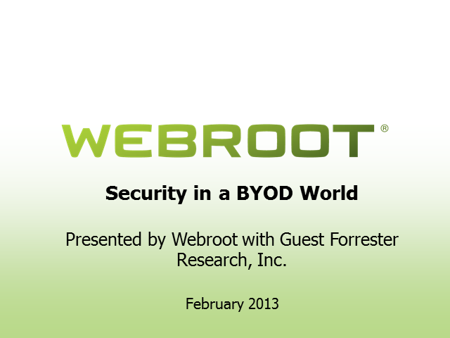 Security In a BYOD World