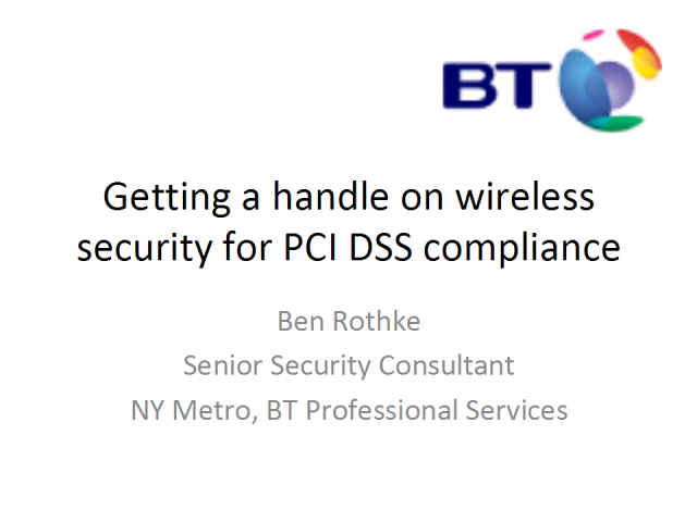 Getting a Handle on Wireless Security for PCI DSS Compliance