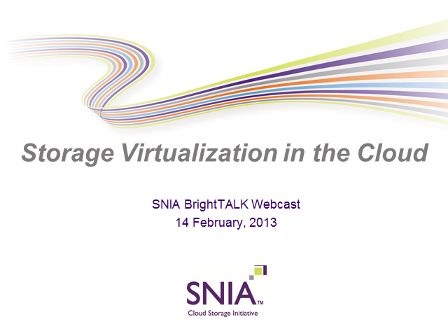 Storage Virtualization in the Cloud