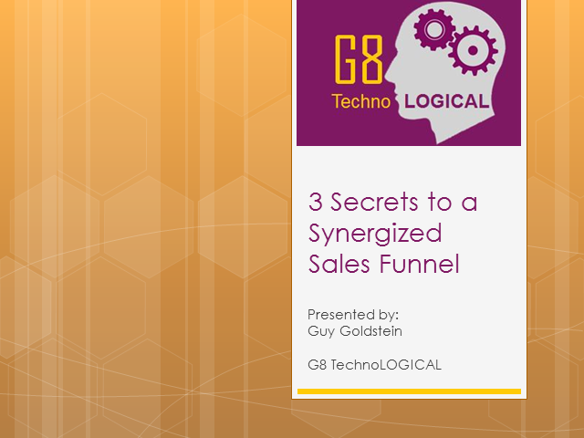 3 Secrets to a Synergised Sales Funnel