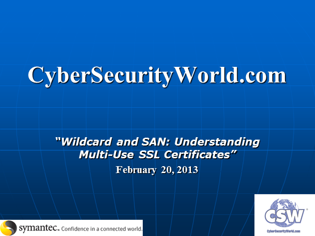 """Wildcard and SAN: Understanding Multi-use SSL Certificates"""