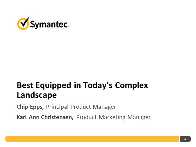 """Are Your Endpoints Best Equipped in Today's Complex Landscape?"""