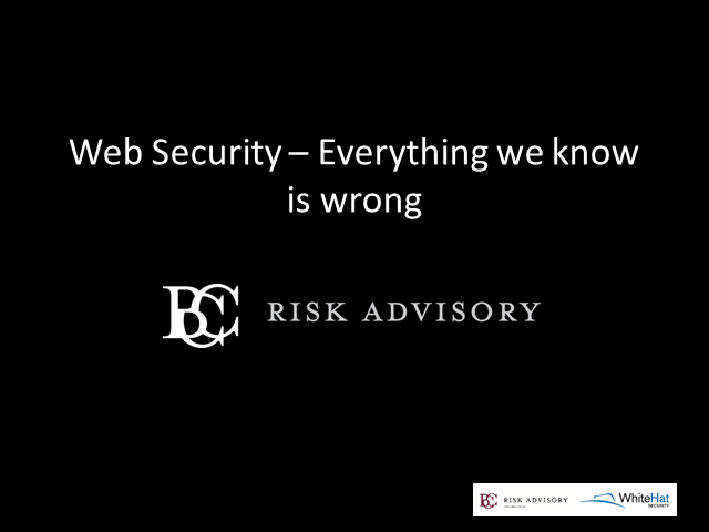 Everything We Know and Do to Secure Web Applications is Wrong