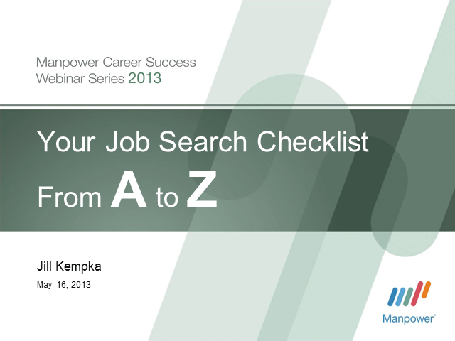 Your Job Search Checklist from A to Z