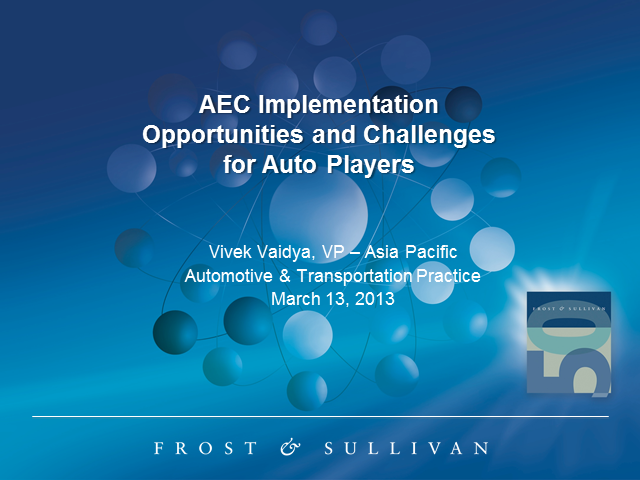 AEC – Opportunities and challenges for Automotive Players