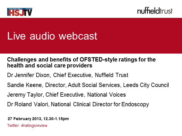 Challenges & benefits of OFSTED-style ratings for health & social care providers