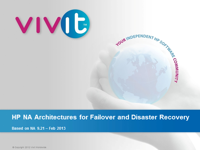 Network Automation Architectures for Failover and Disaster Recovery