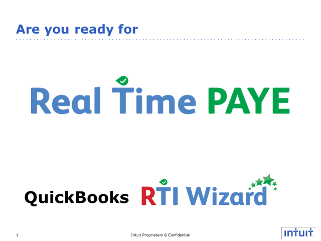 Real Time PAYE. QuickBooks RTI Wizard