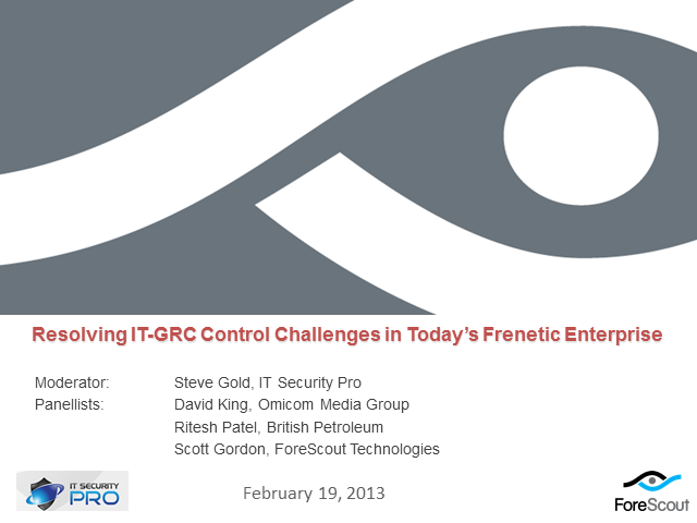 Resolving IT-GRC control challenges in the frenetic enterprise