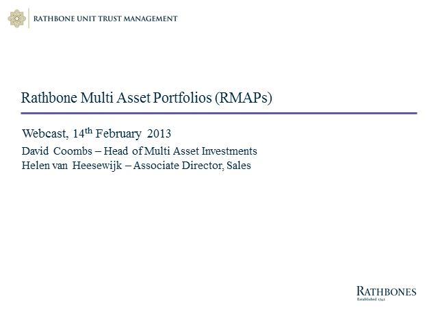 Risk-based portfolios, focused on client outcomes