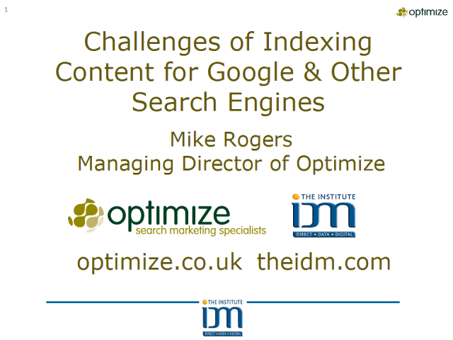 Challenges of Indexing Content for Google & Other Search Engines