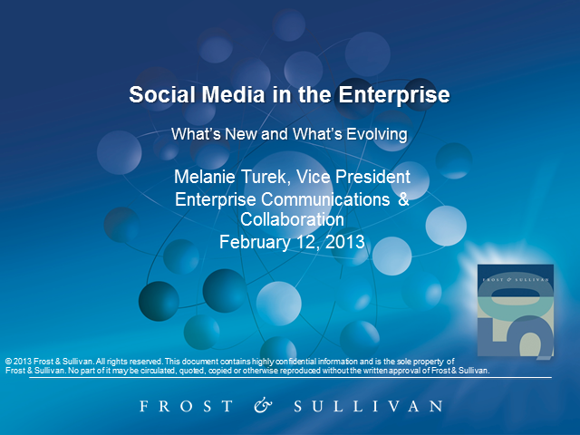 Social Media in the Enterprise: A Snapshot