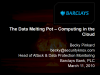The Data Melting Pot - Computing in the Cloud