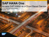 Access SAP HANA as a Cloud Based Service