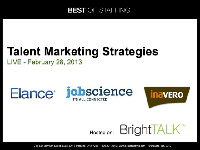 Talent Marketing Strategies Round Table