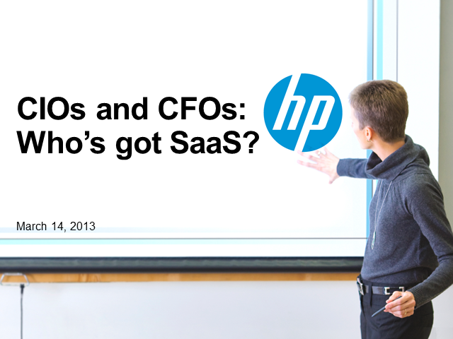 CIOs and CFOs: Does IT matter when you've got cloud and SaaS?