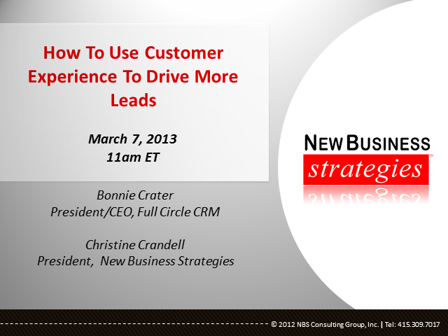 How Top Companies Use Customer Experience To Drive More Leads