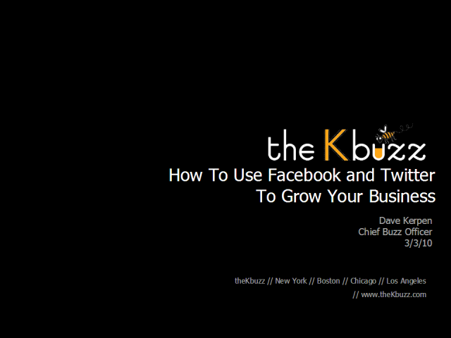 How to Use Facebook & Twitter To Grow Your Business
