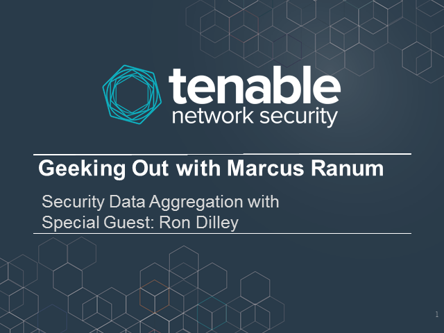 Geeking Out with Marcus Ranum - Security Data Aggregation