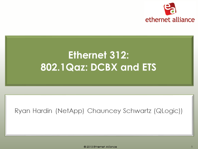 Ethernet 312: 802.1Qaz: DCBX and ETS