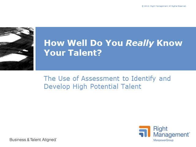 How Well Do You Really Know Your Talent?