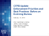 CFPB Update: Enforcement Priorities and Best Practices Before an Evolving Bureau