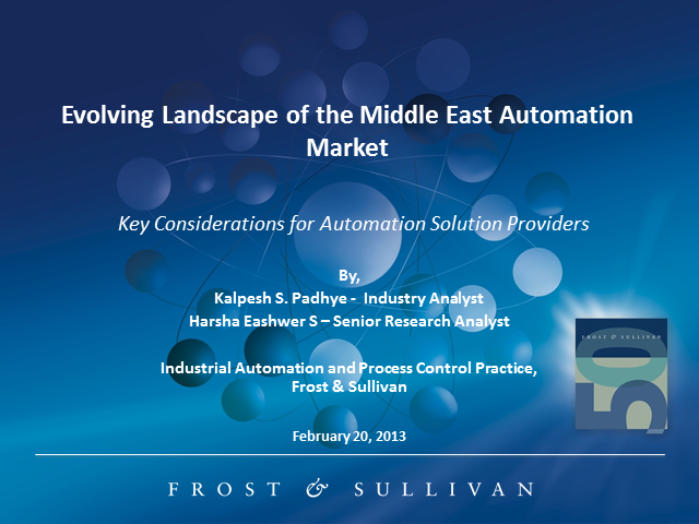 Evolving Landscape of the Middle East Automation Market