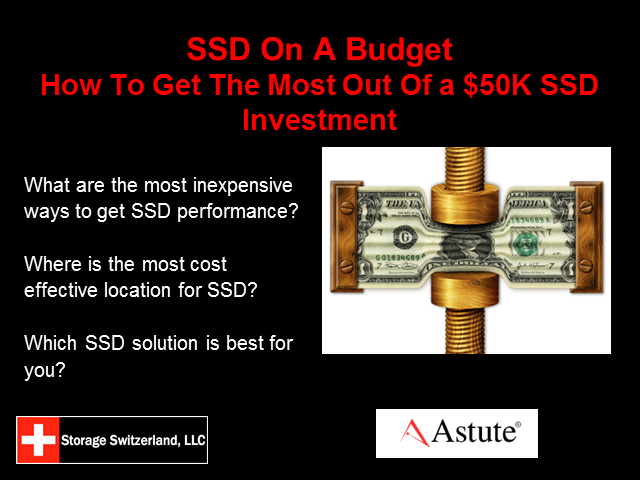SSD on a Budget? Making the most of a $50K Flash Investment