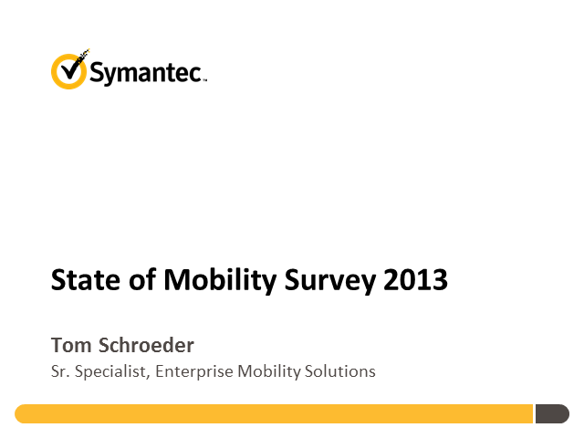 State of Mobility Survey
