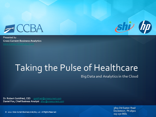 Taking the Pulse of Healthcare: Big Data and Analytics in the Cloud
