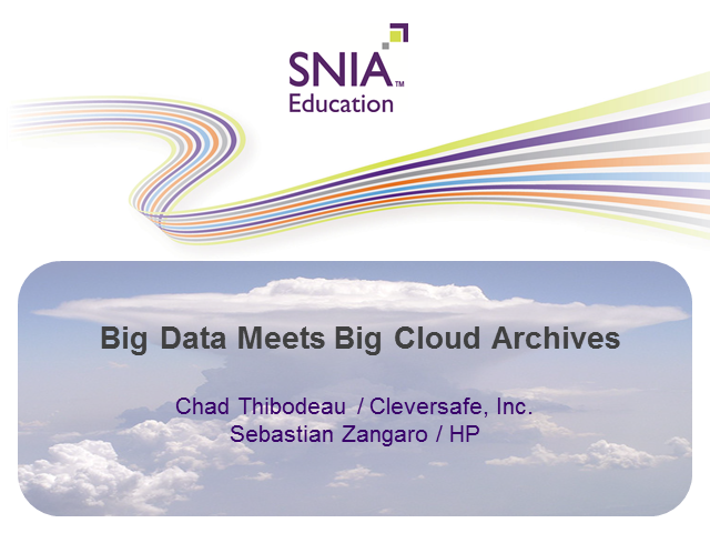 Big Data Meets Big Cloud Archives