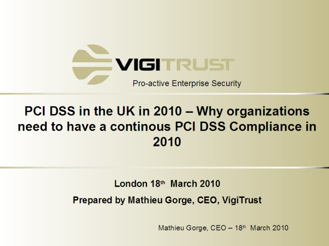 PCI DSS - where are we now?