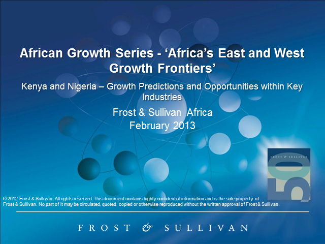 African Growth Series - Africa's East and West Growth Frontiers