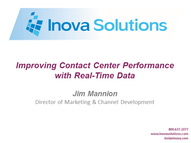 Improving Contact Center Performance with Real Time Data